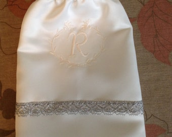 TOP SELLER!  Soft white or bone color Monogrammed Money Dance Bag- free shipping to US first class mail