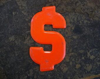 DOLLAR SIGN Symbol Vintage Steel Metal Numbers 2-3-5-7-8-0 Marquee Signage