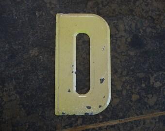 Vintage Letter D Steel Marquee Sign Metal Letter Signage
