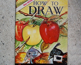 Vintage MidCentury How to Draw Large Paperback Art Instruction Book by Walter Foster