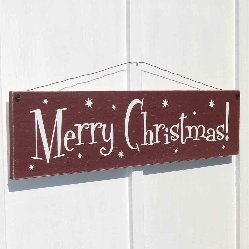 Merry Christmas Sign Holiday Decor Rustic Farmhouse Retro