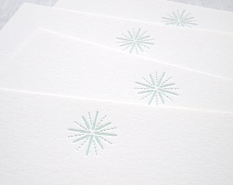 Star Letterpress Stationery - Set of 6 Flat Notes
