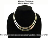 Choker/Necklace, Metal Steel Plated