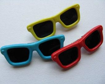 80s sunglasses pin vintage memphis design cool shades lapel pin jacket pin new old stock