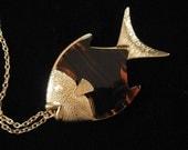 Sarah Coventry Lucite Fish Pendant