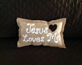 Special Listing for Terry Jesus Loves Me inspirational pillow