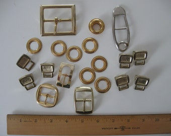 Assorted Vintage Metal Buckles and Accessories - 20 pieces - #2