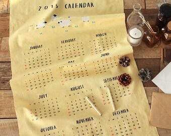 2015 Calendar on Cotton, U221