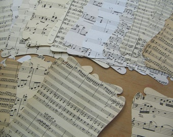 Extra Large Sheet Music Die Cut Background Papers - Giant Paper Die Cuts - Fancy Shaped Background Paper - Jumbo Large Label Plaque - Label