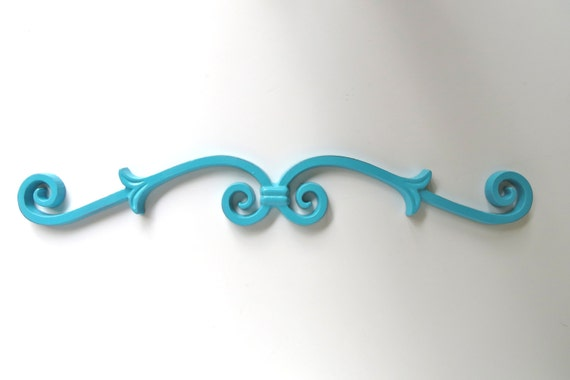 Scroll Wall Decor Iron Wall Scroll Door Topper Turquoise