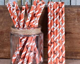 Halloween Cake Pop Sticks, Ghost Cake Pop Sticks, Halloween Candy Apple Sticks, Short Paper Straws, Marshmallow Pop Sticks, Pop Sticks (25)