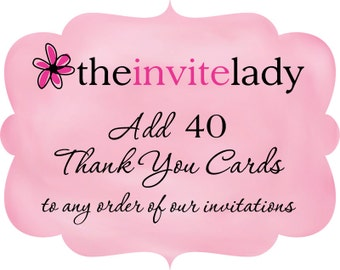 Thank You Card Add On -  40