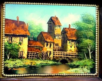 Vintage Mid Century Oil Painting J Pernosky