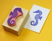 Seahorse Hand Carved Rubber Stamp Nautical Wedding - Beach Wedding - Shell Stamper - Beach Gift - Shell Gift - Fish Rubber Stamp - Sea