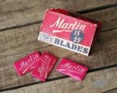 Vintage Razor Blades Marlin Firearm in Original Box - 12 Single Edge Blades