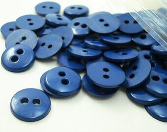 "Deep Royal Blue 7/16"" (11 mm) buttons, Qty 75"