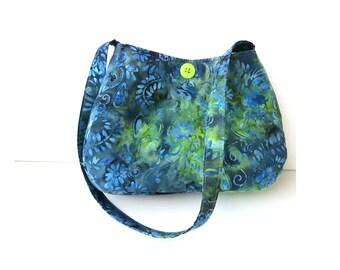 Tie Dye Purse/ cotton fabric/ vegan bag/ summer purse/ small handmade purse/ shoulder bag purse/ cute handbag/ boho style, Item #CJF77-1012