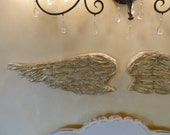 OOAK Angel Wings Christmas Decor Wall Art Whimsical French Custom Colors Available