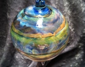 Beautiful blown glass ornament, donated to benefit Shepp. Please help a DUI victim! Details in description.