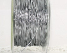 Silver Metallic Twine String, 10 Yards, Weddings, Crafts, Gift Wrap, Bakery Twine, Christmas Ribbon, Party Supplies, Party Favors