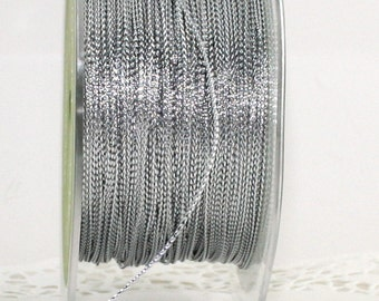 Silver Metallic Twine String, 10 Yards, Weddings, Gift Wrapping, Invitations, Bakery Twine, Christmas Ribbon, Party Supplies, Stationery