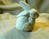 Chalkware Rabbit with One Ear Perked