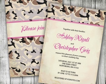 and pink camouflage wedding invitations military invitation designs