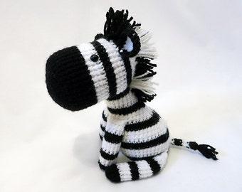 Crochet PATTERN PDF - Amigurumi Zebra - amigurumi pattern, cute crochet zebra pattern, crochet animal plush, children's toy, softie
