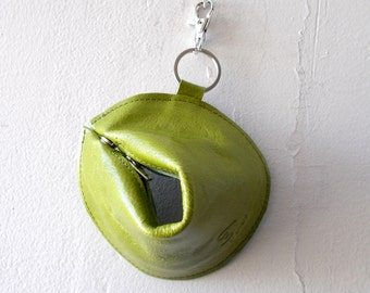 1+1 Fortune cookie wallet ,The Perfect Gift - Green apple
