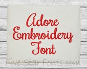 Adore Embroidery Font