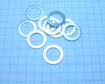 "Sterling Silver Round Washers 5/8"" OD 7/16"" ID Qty 10"