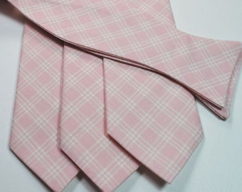 Blush Neckties Wedding Neckties Mens Neckties Blush Plaid Neckties, Custom Neckties