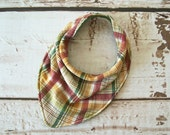 Forty41 Plaid Bandana Bib for Babies and Toddlers