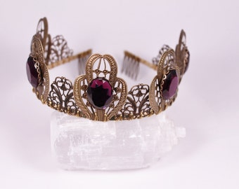 Belladonna Filigree Tiara Crown Tudor Renaissance Medieval Game of Thrones