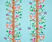 Custom Boutique (Owlery in Aqua) Shopping Cart Cover -comes with a pillow and a safety belt