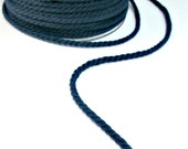 Midnight blue twisted cotton cord, 4mm, 3 meters