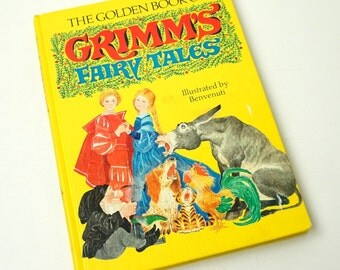 The Golden Book of Grimm's Fairy Tales 1973 Hc / Vintage Childrens Book