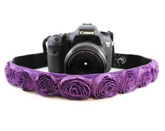 Purple Organza SLR Camera Strap