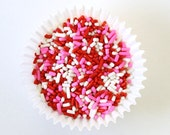 Valentine's Day Jimmies - Red, Pink & White Jimmies (4 ounces) Cupcake, Cake and Cookie Sprinkles