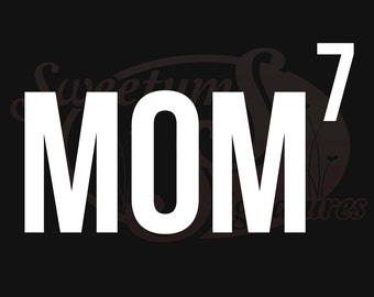 Mom x 7 - Vehicle Decal