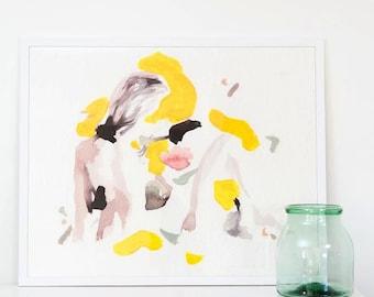Unfixed .  horizontal giclee print . extra large artwork