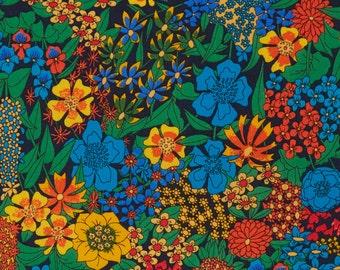 Liberty Tana Lawn Fabric, Liberty of London, Ciara, Cotton Print Scrap, Vivid Floral Colorful Design, Quilt, Patchwork Fabric, kt5047d