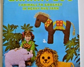 Aunt Lydia's Granny Zoo 7 Animals to Crochet in Heavy Rug Yarn Pattern Booklet