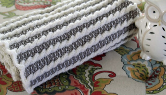 Knit Afghan Pattern, Stroller Blanket, Baby Afghan, Blanket Pattern, Timeless...