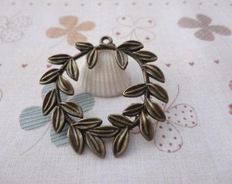 20pcs 43mmx43mm Tree Leaf  Antique Bronze  Retro Pendant Charm For Jewelry Pendant