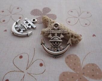 20pcs 22mmx19mm Anchor Antique Silver Retro Pendant Charm For Jewelry Pendant