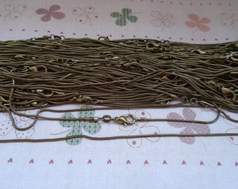 Get 50pcs of our Antique Bronze Plated/ Snake Chain Necklaces/Jewelry supply/20 inch(50cm)
