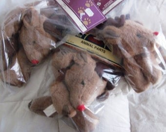 """Three Sets Plush Deer Parts for 8"""", 12"""" and 10/12"""" Deer, by Paw Prints and Darice, NIB"""