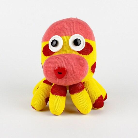 Handmade Sock Octopus Stuffed Animal Doll Baby Toys