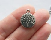 BULK 30 Tree pendants antique silver tone T36 - SALE 50% OFF